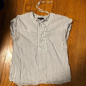 J-crew striped blouse